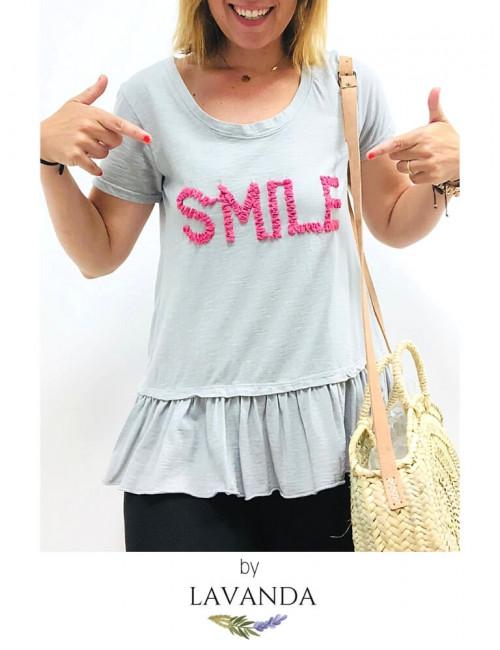 Camiseta con volante SMILE
